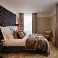 Обилие оттенков коричневого цвета в спальне
