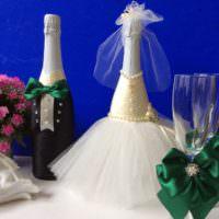 Декорирование бутылок для свадьбы своими руками
