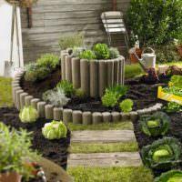 Спиральная грядка для выращивания овощей