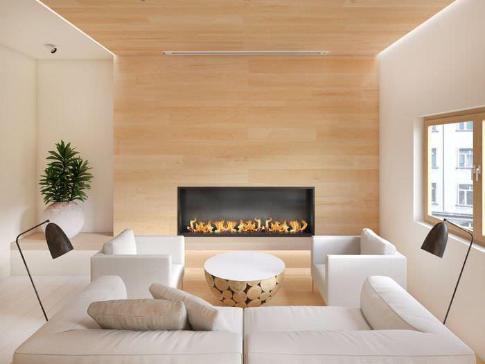 Камин как центральный декорирующий элемент гостиной