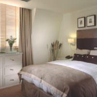 Серо-бежевые оттенки в дизайне спальни