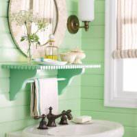 Мятный цвет в отделке ванной комнаты
