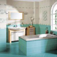 Ванная комната в мятной расцветке