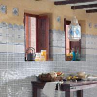 Керамическая плитка с рисунком мозаики