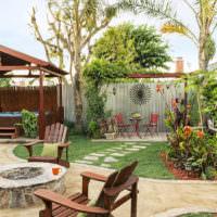 Красивый дизайн частного двора