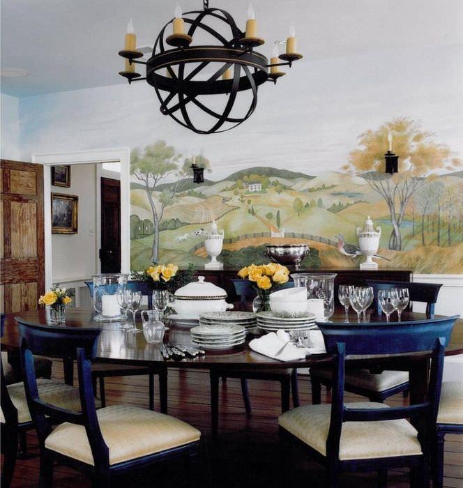 Картина в декоре кухонного пространства