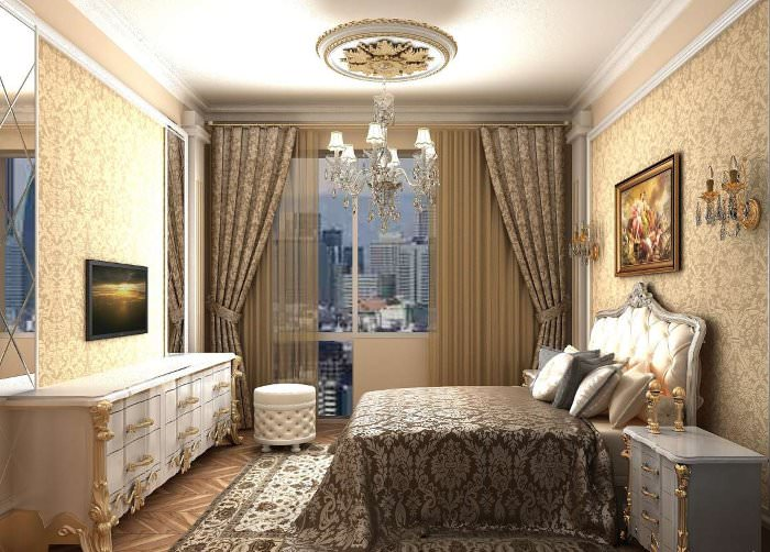 Богатая спальня в классическом стиле своими руками