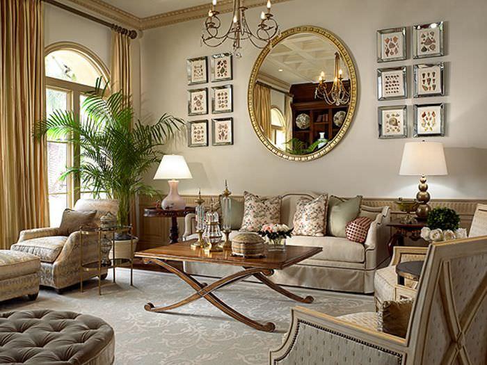 Дизайн гостиной в традиционном классическом стиле