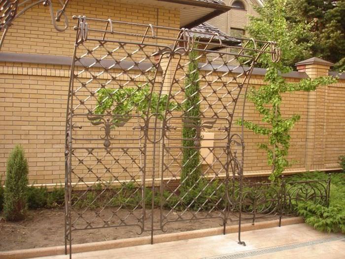 Металлическая кованная шпалера для вертикального озеленения