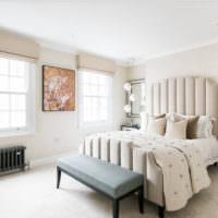 Дизайн просторной спальни частного дома
