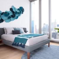 Оригинальные декорации в дизайне спальни