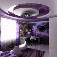 Фиолетовая спальня в современном стиле