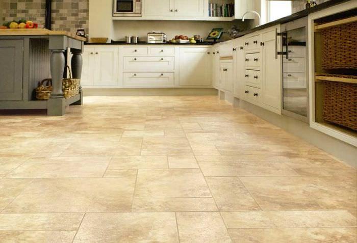 Ламинат с имитацией керамической плитки для кухни