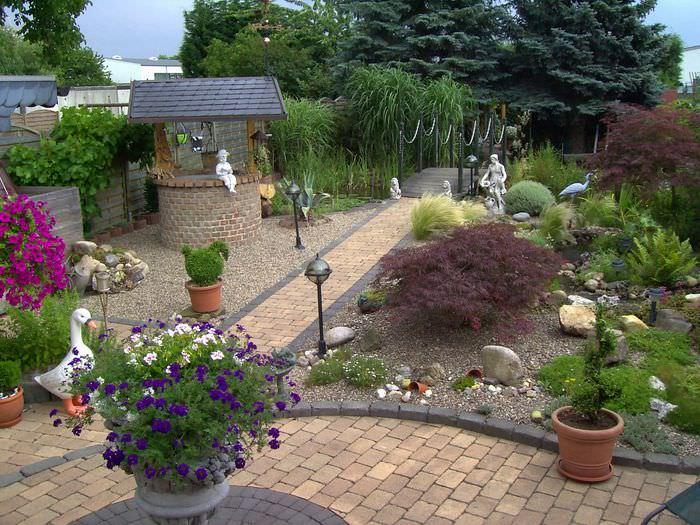 Ландшафтный дизайн загородного дома своими руками фото фото 313