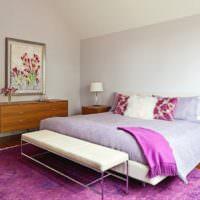 Современная спальня в оттенках лаванды