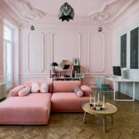 Использование полиуретановой лепнины в дизайне современной гостиной