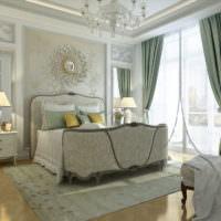Украшение интерьера спальни в пастельных тонах