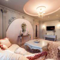Использование лепного декора в интерьере гостиной