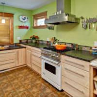 Линолеум в интерьере современной кухни