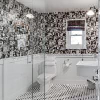 Противоскользящий линолеум в туалета частного дома