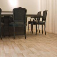 Коммерческий линолеум в переговорной комнате крупной компании