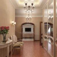 Интерьер прихожей частного дома в стиле классики