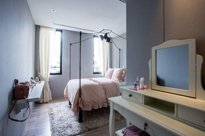 Дизайн маленькой спальни в светлых оттенках