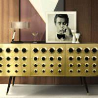 Золотой цвет в дизайне современного помещения