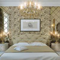 Золотые оттенки в интерьере спальни