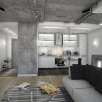 Серый цвет в модном интерьере гостиной