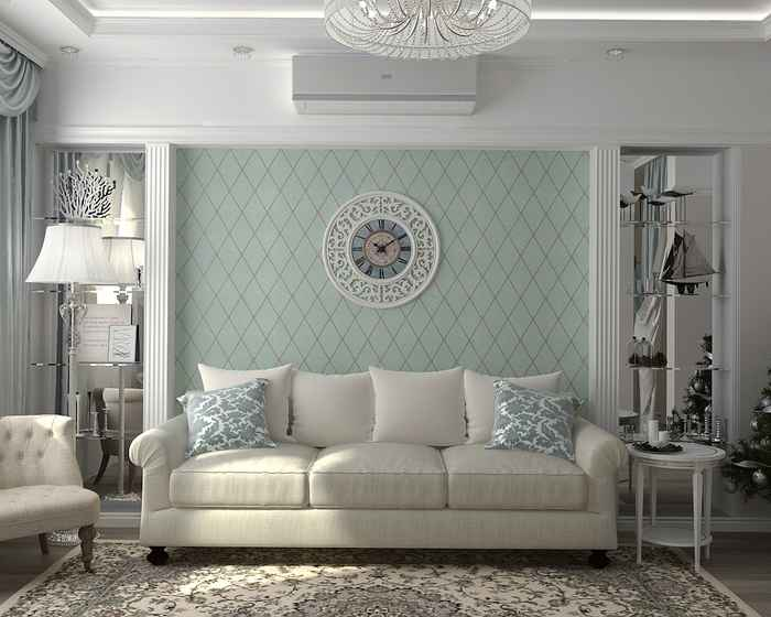 Декорирование молдингами комнаты в стиле прованс