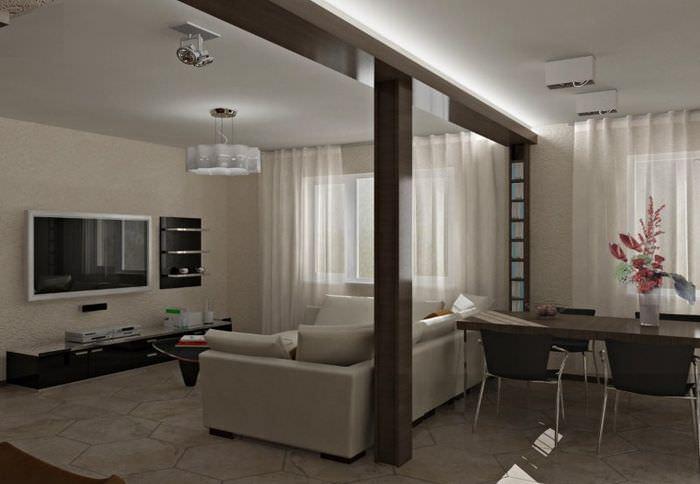 Интерьер квартиры-студии мужчины в серых тонах