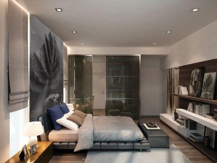 Дизайн типичной мужской спальни в строгом стиле