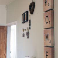 Буквы на деревянных планках своими руками