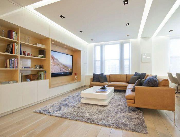Стильные ниши в дизайне гостиной комнаты
