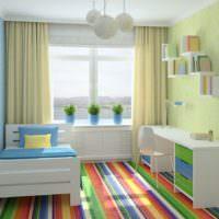 Детская комната в яркой расцветке