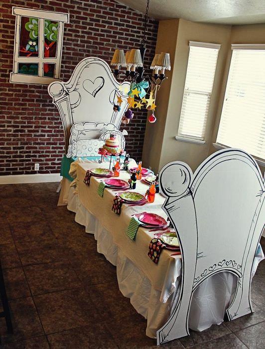 Украшение своими руками праздничного стола на детский день рождения