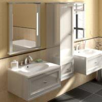 Подвесные раковины в интерьере ванной