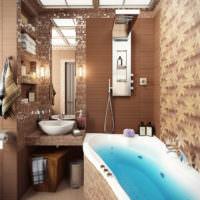Коричневые оттенки в дизайне ванной