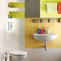 Зонирование раковины плиткой в ванной комнате
