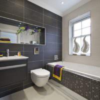 Темные тона в интерьере ванной комнаты