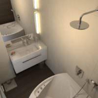 Бежевые оттенки в дизайне ванной