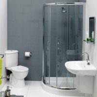 Душевая кабина в дизайне совмещенной ванной комнаты