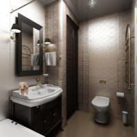 Дизайнерское оформление интерьера ванной