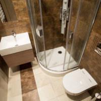 Оттенки коричневого цвета в интерьере ванной
