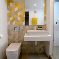 Интерьер ванной комнаты в стиле минимализма
