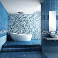 Оттенки синего цвета в дизайне ванной комнаты