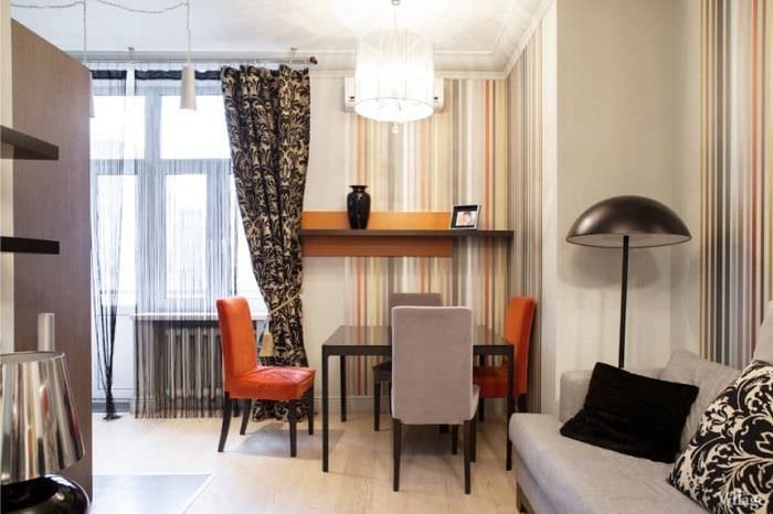 Черный и оранжевый цвета в дизайне современной кухни