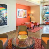 Оттенки оранжевого в интерьере жилого помещения