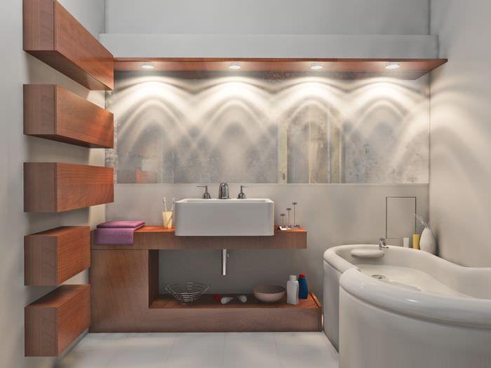 Освещение в интерьере ванной комнаты